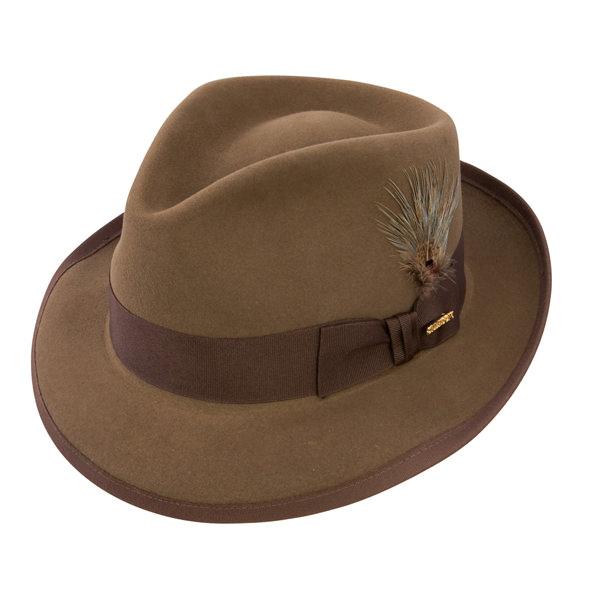 89c2d75d Stetson Whippet Fur Felt Fedora Hat: DelMonico Hatter