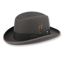 Homburg Hats By Delmonico Stetson Bailey Brands Delmonico Hatter Men's traditional wool black homburg hat. homburg hats by delmonico stetson