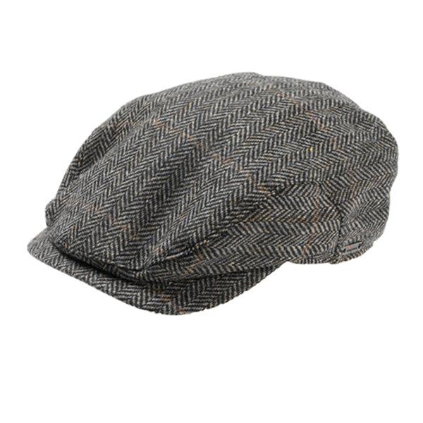Wigens Jacob - Ivy Style Wool Herringbone Cap  DelMonico Hatter 87f5911bf83