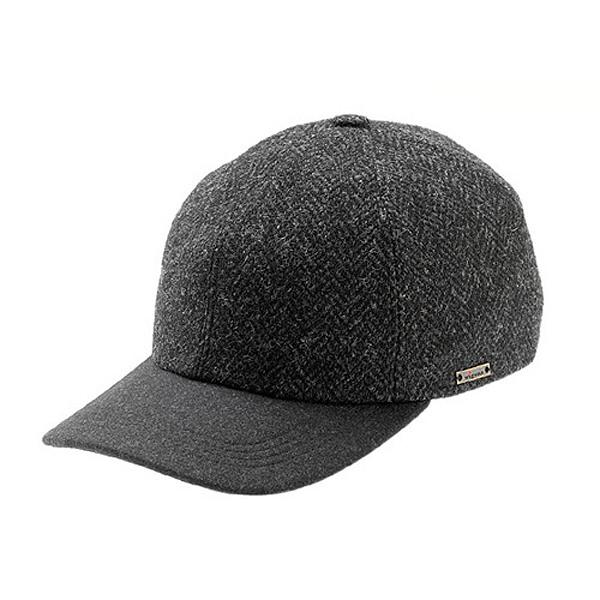 Wigens Lars - Grey Tweed Baseball Cap - Earlaps  DelMonico Hatter cd0d3d60684