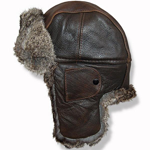 c4c2445e0d41a3 Crown Cap Vintage Leather Aviator Hat: DelMonico Hatter
