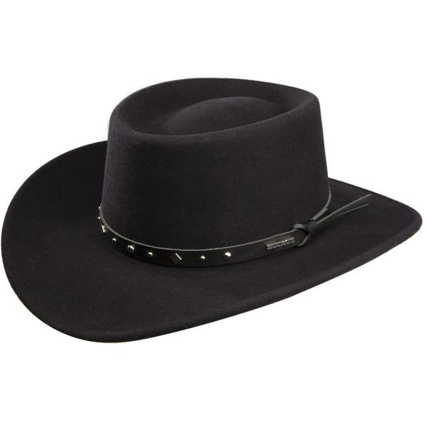 Stetson Black Hawk Gambler Hat  DelMonico Hatter 58f4544ef6c