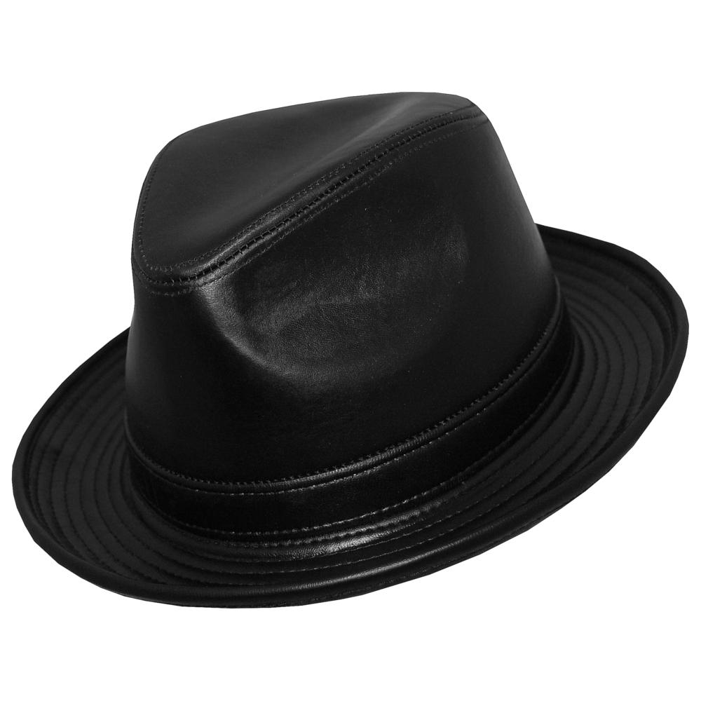 DelMonico Blues Bros. Genuine Leather Fedora  DelMonico Hatter 80e479782ca