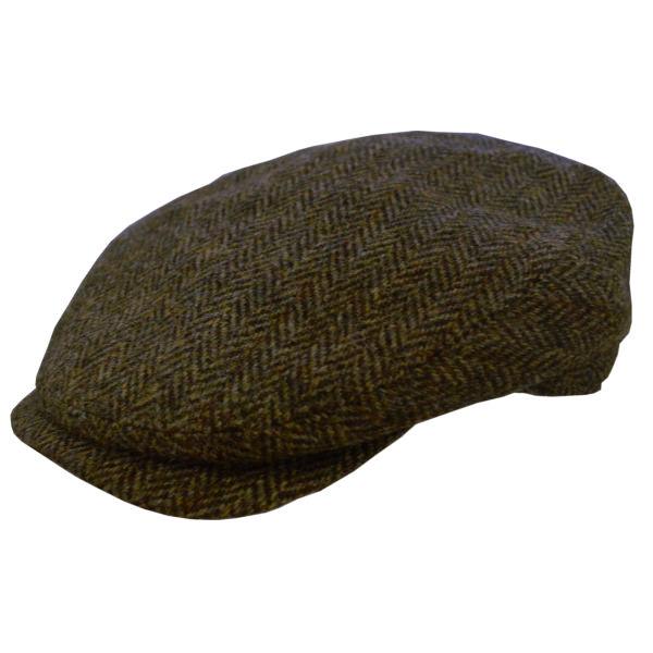 DelMonico Harris Tweed Ivy Cap with Stripe Overlay de2b2c468d23