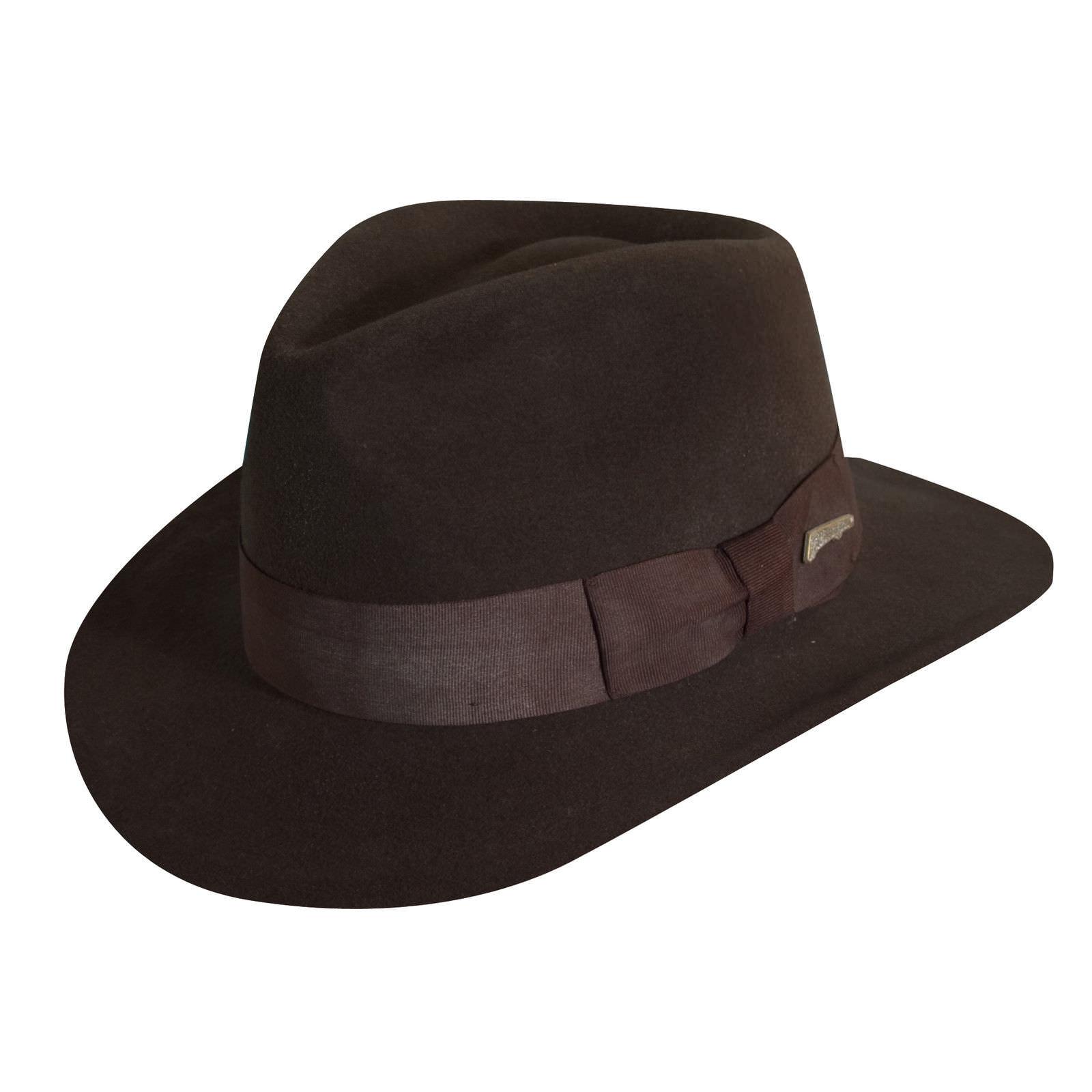 7ae21e1d95ccc Indiana Jones Crushable Wool Felt Fedora  DelMonico Hatter
