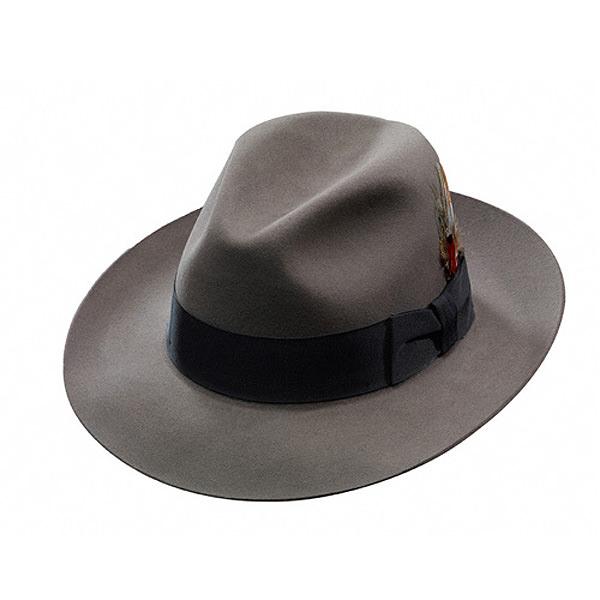 9e6831ddde1 Stetson Temple Fur Felt Fedora Hat  DelMonico Hatter