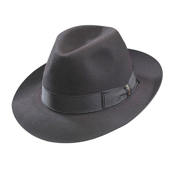 Borsalino Beaver Fur Felt Hat - Grey Medium Brim  DelMonico Hatter f58fc5dc37c