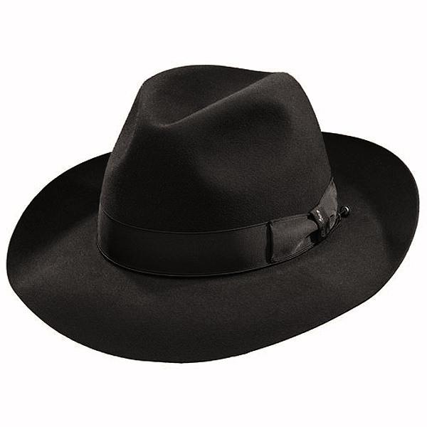 Borsalino Ernesto - Beaver Fur Felt Hat - Black  DelMonico Hatter c64f307efbf