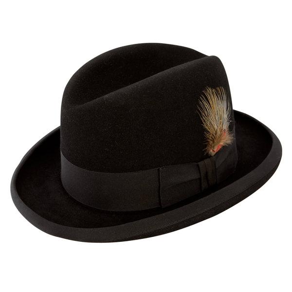 Stetson Fur Felt Homburg Hat  DelMonico Hatter 635430610c7