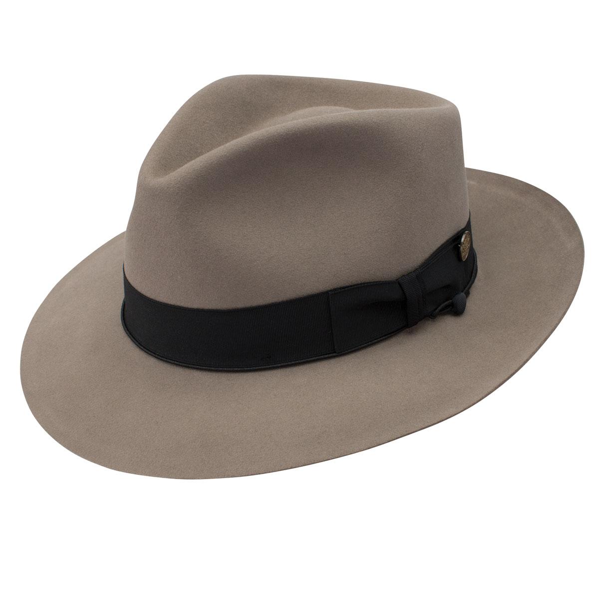c6a7fbfa063 Stetson Bogie Beaver Fur Felt Fedora Delmonico Hatter