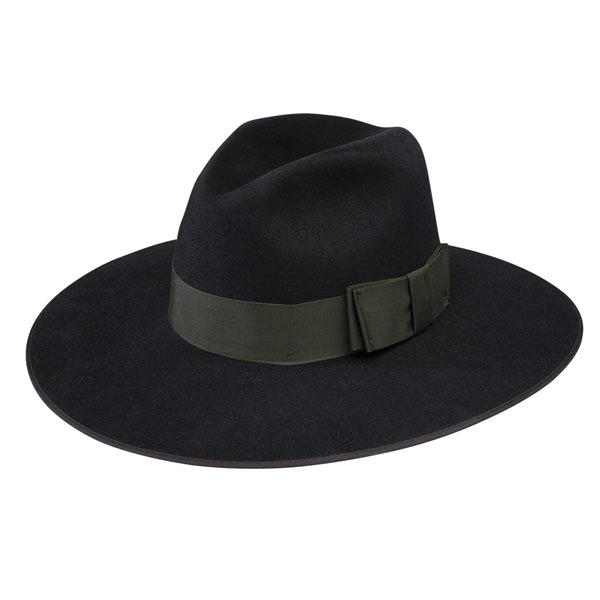 Stetson Tri-City Wide Brim Fur Felt Fedora  DelMonico Hatter 40962cefc6e