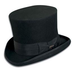 513cf880e54 DelMonico Satin Collapsible Top Hat.  375.00 · Scala Mad Hatter