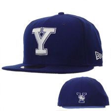 new era fitted yale baseball cap blue delmonico hatter