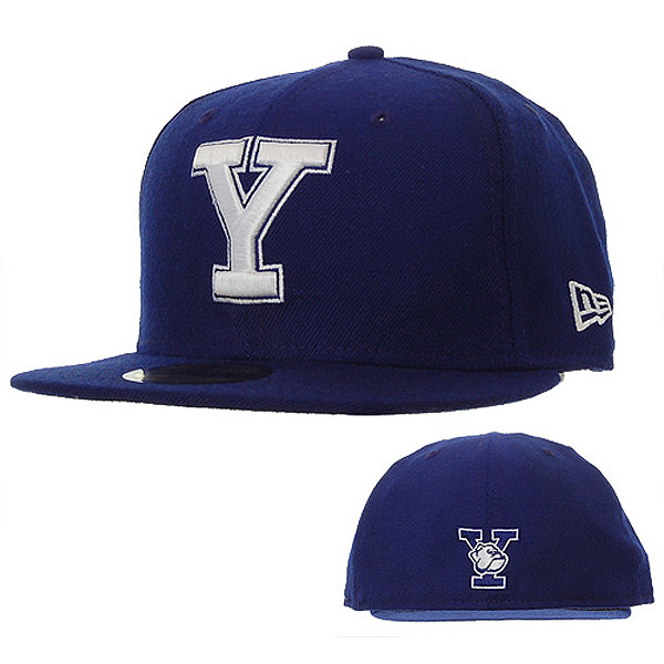 cc6fb34821524 New Era Fitted Yale Baseball Cap - Blue  DelMonico Hatter