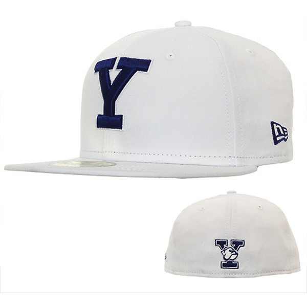 f7fc3efdfb053 New Era Fitted Yale Baseball Cap - White  DelMonico Hatter